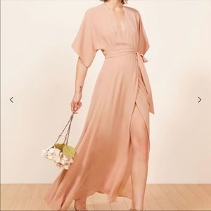 The Reformation Winslow Maxi Dress Blush